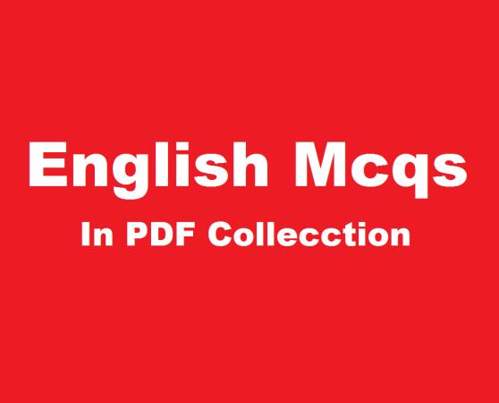 english mcqs in pdf for FIA jobs PPSC