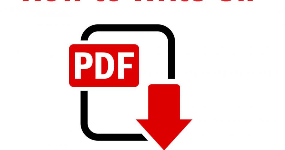 How to write on Pdf