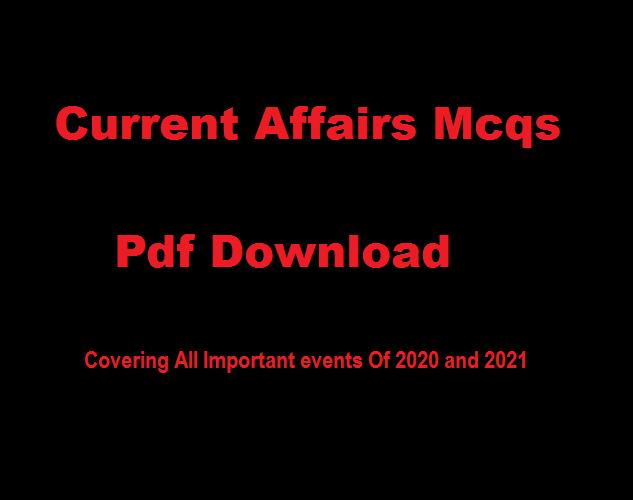 Current affairs 2021 in Pdf