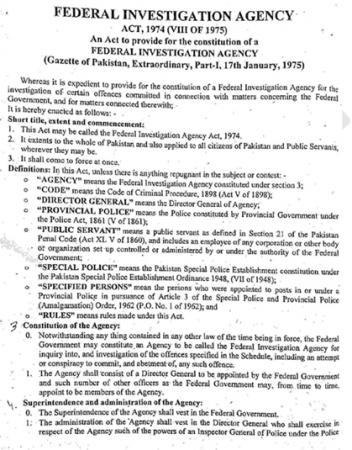 FIA Act 1974