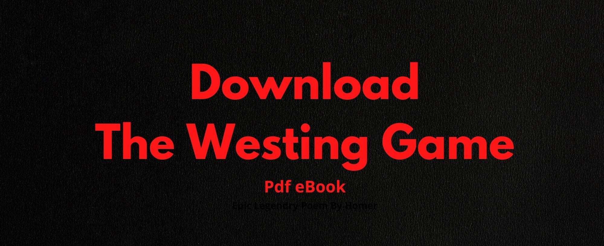Download The Westing Game Pdf