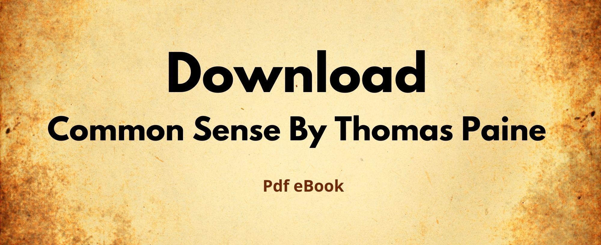 Download common sense thomas paine pdf