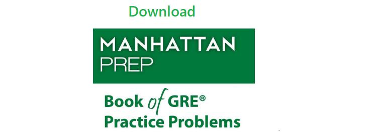 Download manhattan prep gre pdf