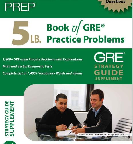 Manhattan Prep's Book Of GRE Pdf eBook