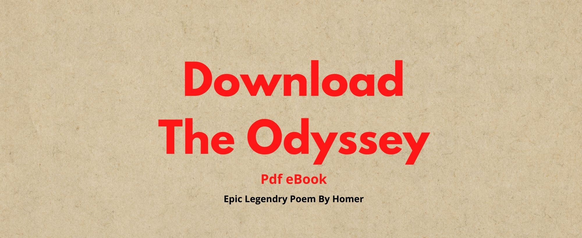 Download The Odyssey Pdf