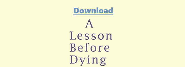 Download A Lesson Before Dying By Ernest Gaines Pdf eBook