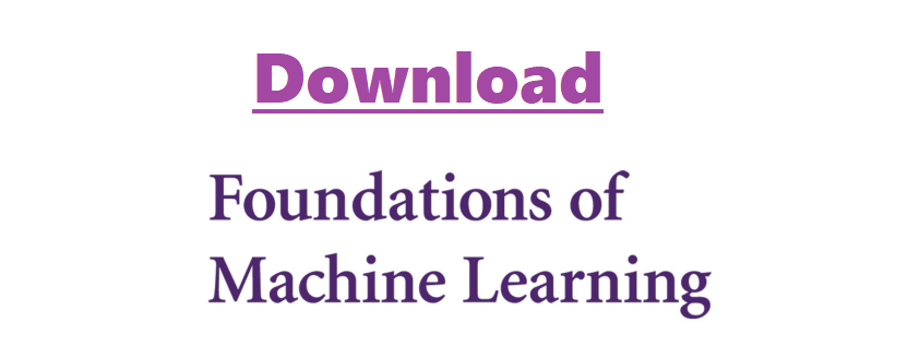 Download foundations of machine learning pdf