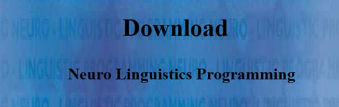 Download neuro linguistics programming by Joseph O'Connor pdf